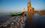 Beauty in ruins: abandoned church on Vietnam beach