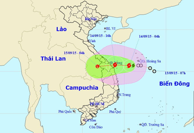 Quang Ngai Vietnam Map.Storm May Hit Central Vietnam Later Today Society Thanh Nien Daily