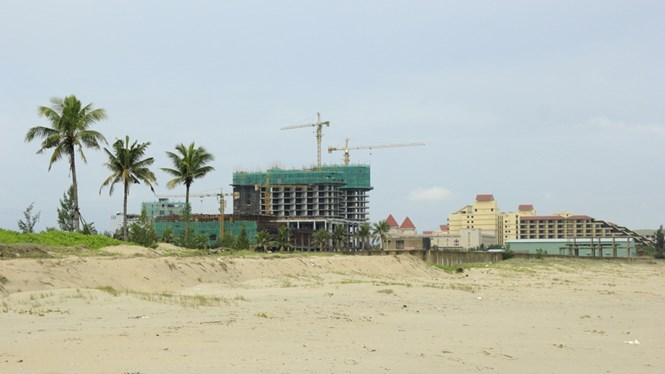 The JW Marriott Danang Resort's construction site. Photo: Hoang Son