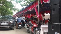 A wedding tent on Road No. 1 in District 9, Ho Chi Minh City. File photo
