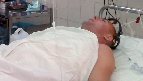 The Russian tourist at Khanh Hoa Province General Hospital. Photo credit: VnExpress