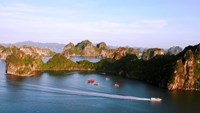 Bai Tu Long Bay, the less-famous neighbor of Ha Long Bay. Photo: Kim Dung
