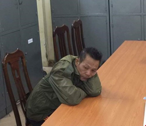 Nguyen Van Ky at a Hanoi police station. Photo supplied