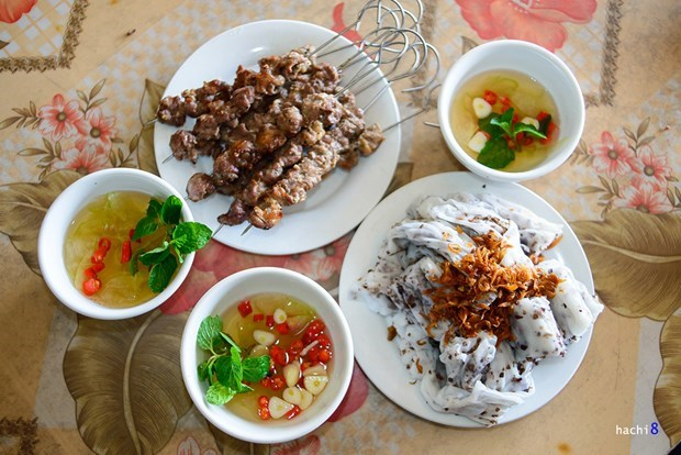 The banh cuon dish in Tu Le Town, Yen Bai Province. Photo: hachi8