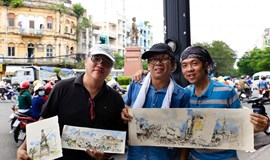Vietnamese sketchers capture disappearing urban icons