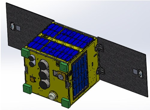 The design of the made-in-Vietnam MicroDragon satellite. Photo: VNSC