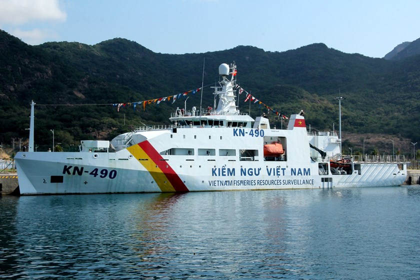 A photo taken on March 8, 2016 shows a Vietnamese ship at Cam Ranh International Port. Photo: Bui Van Xuan