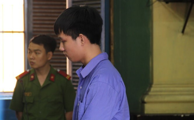 Nguyen Van Thien stands trial in Ho Chi Minh City on April 7, 2016. Photo credit: Tuoi Tre