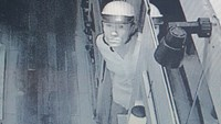 A surveillance camera captures a man who broke into a Japanese restaurant in District 1, Ho Chi Minh City, on June 5, 2016. Photo released by HCMC police