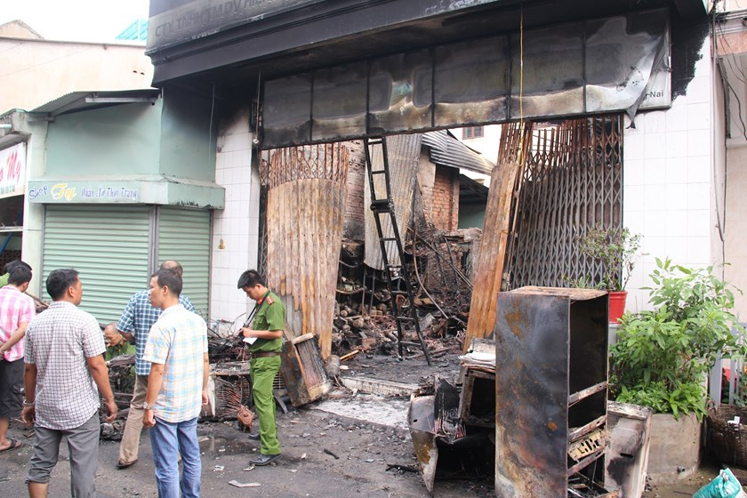 The house in which fire started and killed four members of a family in Dong Nai Province early on June 27, 2016. Photo: Le Lam