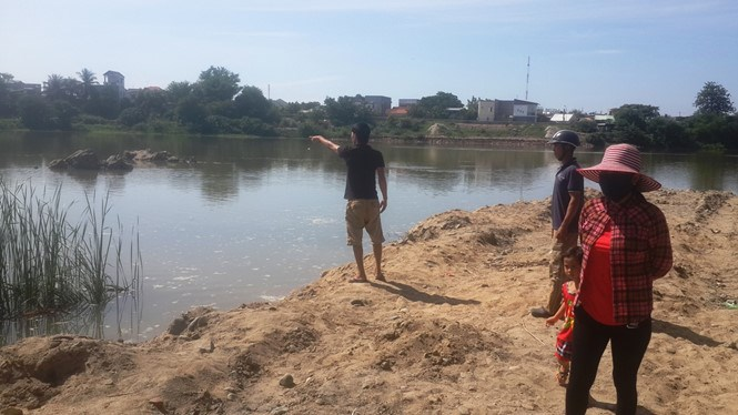 The river in which three boys aged 14-15 drowned in Ninh Thuan Province on Sunday. Photo: Thien Nhan