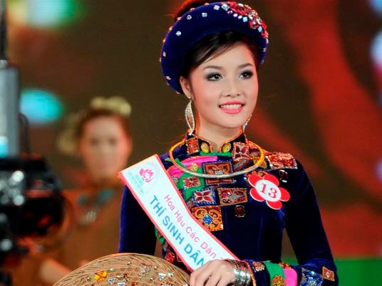 Trieu Thi Ha, who was crowned Miss Ethnic Vietnam in 2011 but wanted to give up the title last year, claiming the organizers gave her too much work and no sympathy. Photo credit: danviet.vn