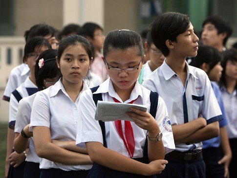 Students at a high school in Ho Chi Minh City. Photo: Dao Ngoc Thach