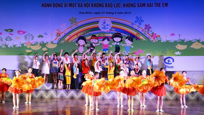Children dance at a ceremony to launch Vietnam's campaign against child violence in Hoa Binh Province outside Hanoi May 31. Photo credit: UNICEF