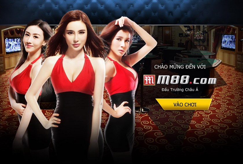 The home page of Philippines-based gambling website M88 of which 59 Vietnamese have been charged legally