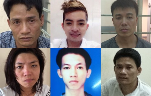Leading members in a drug trafficking ring that is assessed as among the biggest ever busted in Ho Chi Minh City. Some were arrested this week. Photo credit: VnExpress