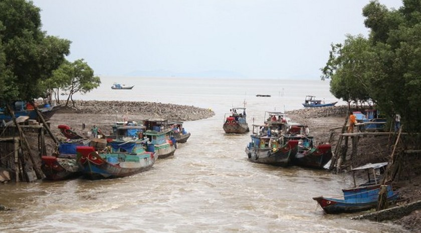 Too much fishing has threatened aquatic resources in the Mekong River in Vietnam while groundwater exploitation has eroded river banks. Photo credit: TBKTSG