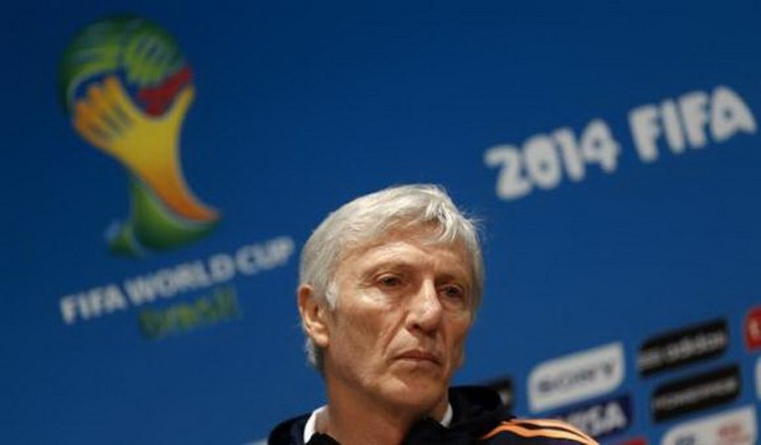 Colombia's head coach Jose Pekerman listens to a question during a news conference in Rio de Janeiro June 27, 2014. Colombia played against Uruguay on June 28. Photo credit: Reuters