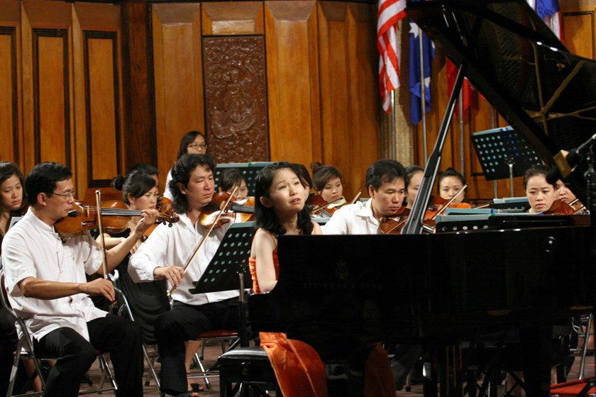 Jitsukawa Asuka from Japan performs at the second edition of Vietnam International Piano Festival in Hanoi in 2012. She was among the winners. Photo: Ngoc Thang