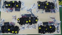 A photo provided by Ho Chi Minh City Customs shows five sets of devices for compromising police's speed guns that they seized from a shipment from Denmark to a city local on Monday