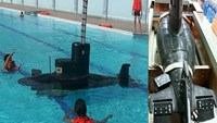 Yet Kieu 1, the first mini submarine made by a Vietnamese and which was tested successfully in 2010. Photo: Dinh Son