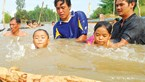 Mekong Delta kids taught to swim on the cheap
