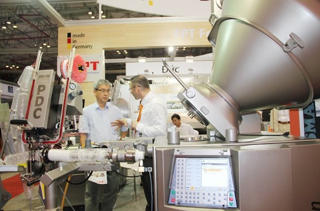 Industrial machinery being presented at a fair in Vietnam. Photo: Hung Le/TBKTSG