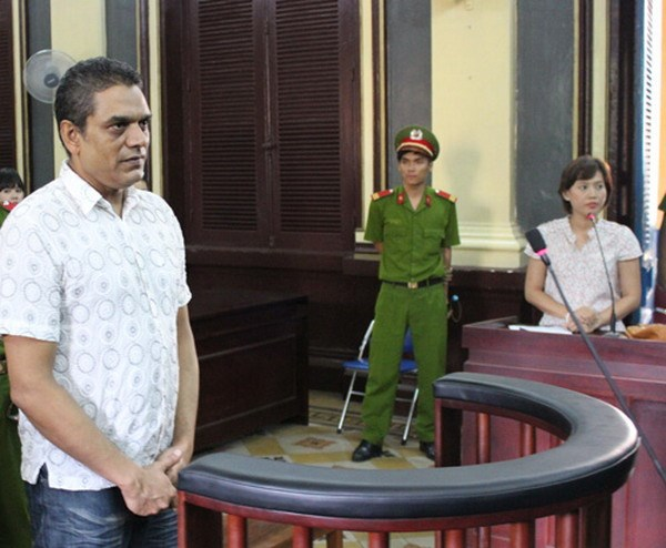 De Santos Kevin William, a 51-year-old Australian, at trial in Ho Chi Minh City on September 10, 2014. He was sentenced to 15 years in prison for attempting to smuggle narcotics out of the country. Photo: Ngoc Le