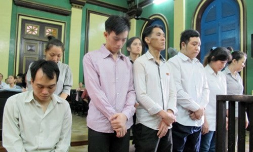 A photo from news website VietNamnet showed Nguyen Tan Dat, a bar owner, at a trial in Ho Chi Minh City on September 12, 2014 when he, his colleagues and employees were tried for procuring sex workers for foreign customers.