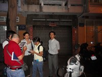 The door at Cuu Huong Company in Ho Chi Minh City were shut on city health officials on the night of September 15, 2014.