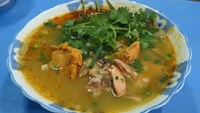 A bowl of crab noodle soup at Nga's restaurant in Hue. Photo: Tuyet Khoa