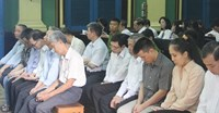 Agribank bankers sit at a trial in Ho Chi Minh City on January 6, 2014 for embezzlement. Photo: Le Quang
