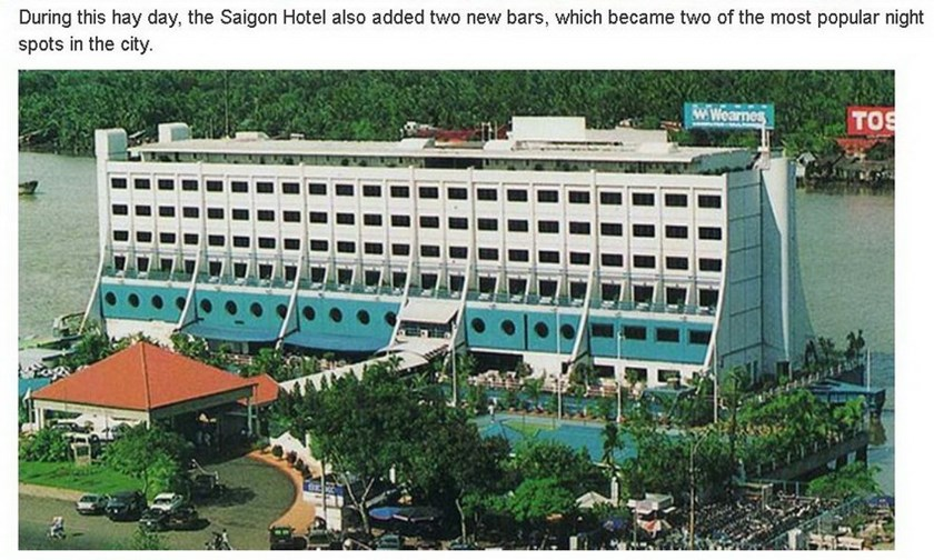A screen capture of the NK News site that says during its heyday, the Saigon Hotel also added two new bars, which became two of the most popular night spots in the city.