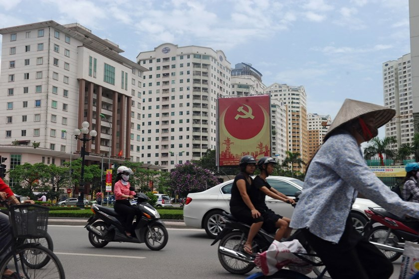 A street in a newly developed residential quarter in Hanoi. Photo: Hoang Dinh Nam/AFP