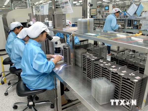 Employees at a company in the northern province of Vinh Phuc. Photo: Danh Lam/Vietnam News Agency