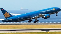 A Vietnam Airlines Boeing 777 in a photo provided by MHI Aerospace Vietnam.