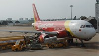 A VietJetAir aircraft at Tan Son Nhat airport in Ho Chi Minh. Photo: Kham/REUTERS
