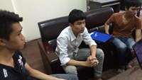 Young porn site operators at a Hanoi police station after they were busted between July and October this year. Photo credit: Vietnam News Agency