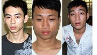 The three young men were arrested on October 29, 2014 for reckless driving, not wearing helmets and assaulting a traffic cop who attempted to stop them. Photo credit: Dat Viet