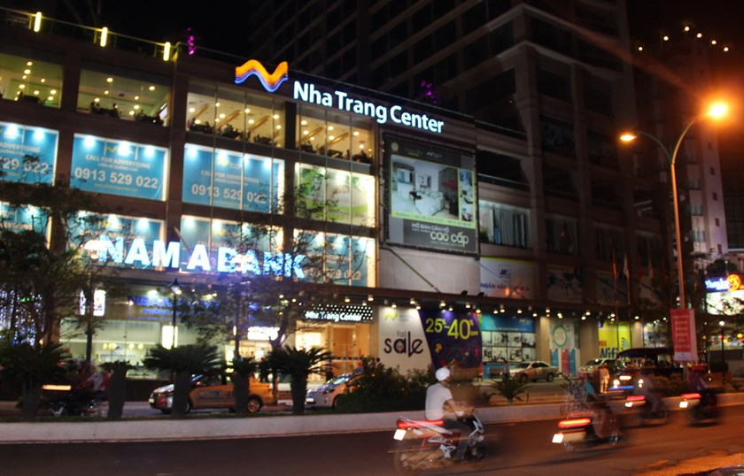 Nha Trang Center in the namesake resort town which was bombed by a pair of men after midnight on November 1, 2014. Photo: Trung Vu