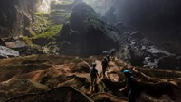 An adventure tour through the world's largest cave Son Doong in Quang Binh Province. Photo provided by Oxalis.