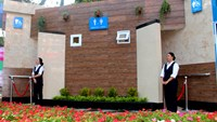 Staffs stand outside one of ten five-star public toilets in Ho Chi Minh City. Photo credit: VnExpress