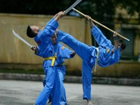 A demonstration of Vietnamese martial art Vovinam. Photo credit: The Thao & Van Hoa