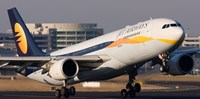A Jet Airways aircraft on the Indian carrier's website