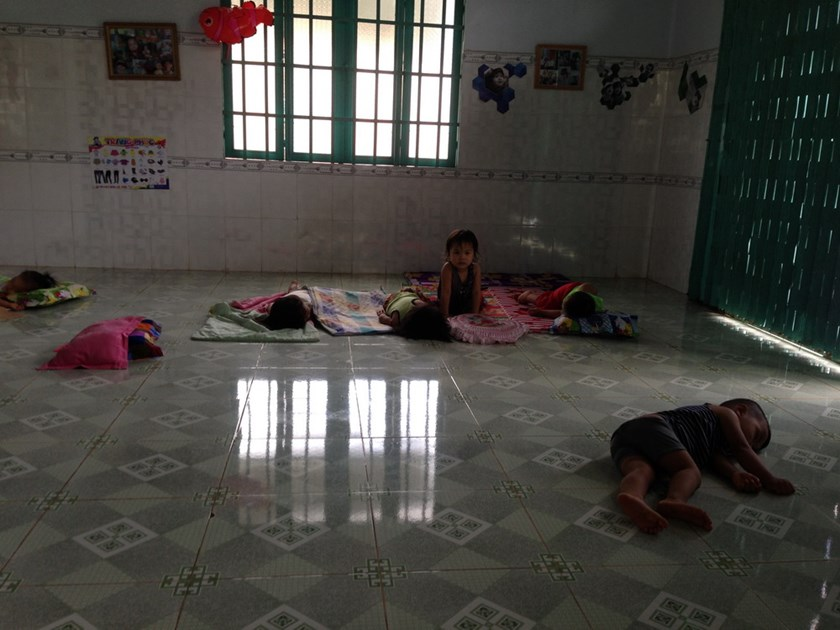 Children napping on November 17, 2014 at a private nursery in Ba Ria-Vung Tau Province where the supervisor's husband allegedly sexually abused a five-year old girl on November 6. Photo: Nguyen Long