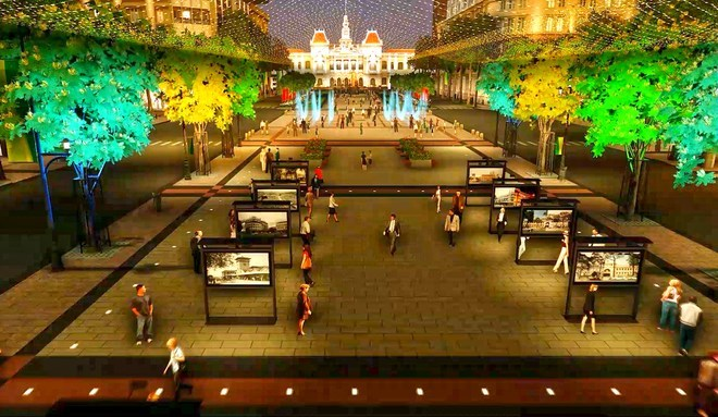 An artist's rendering of the planned upgrade to Nguyen Hue Street in Ho Chi Minh City's District 1.
