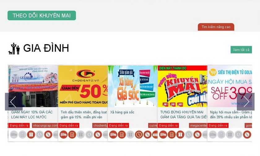 A screen capture of Vietanm's website for special offers www.onlinefriday.vn