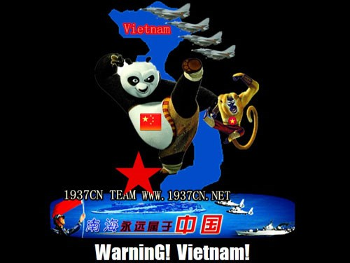 A Vietnamese website's appearance was altered following a Chinese hackers' attack in May 2014