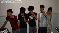 A group of suspected drug addicts picked up in Ho Chi Minh City's major crime sweep on December 5, 2014. Photo: Diep Duc Minh