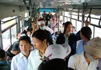 Women and girls on a bus in Hanoi. Photo: Ngoc Thang
